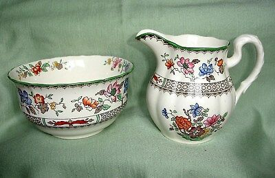 "Copeland Spode ""chinese Rose"" Sugar Bowl & Milk Jug"