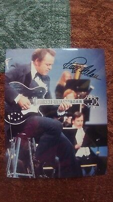 Roy Clark Hand Signed 8 x 10 Color Photo Autograph RARE Not Personalized COA