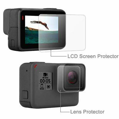 Tempered Glass Screen Protector Guard Film For GoPro Hero 5 Screen and Lens HH