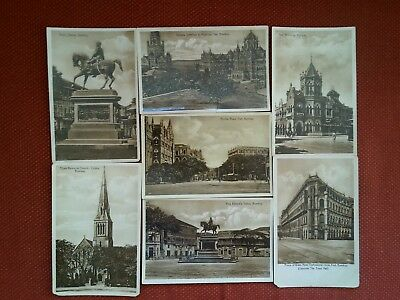 7 vintage real photo Bombay Mumbai India postcards Victoria Terminus Hornby Fort