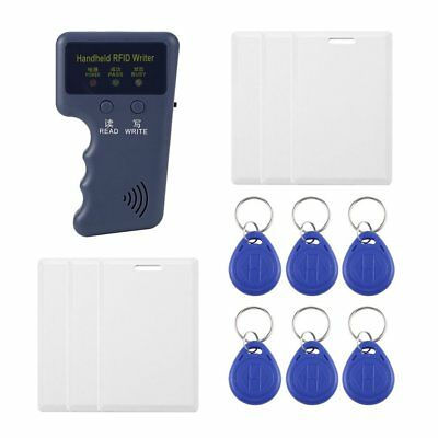 125KHz EM4100 RFID/ID Copier Writer Reader with 3/6 Pcs Cards and Tags TT