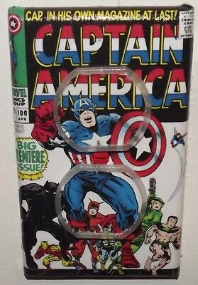 Captain America 100 Outlet Cover Plate - Avengers Marvel FREE SHIPPING