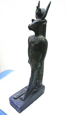 RARE ANCIENT EGYPTIAN ANTIQUE Hathor Stone Statue 1487-1256 BC