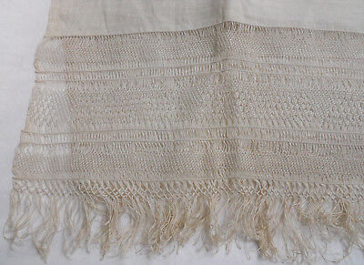 Antique Hand Loomed Hand Knotted Large Linen Towel