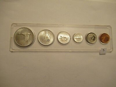 1967 Royal Canadian Mint Proof-Like 6 coin set, 80% silver, acrylic holder #3