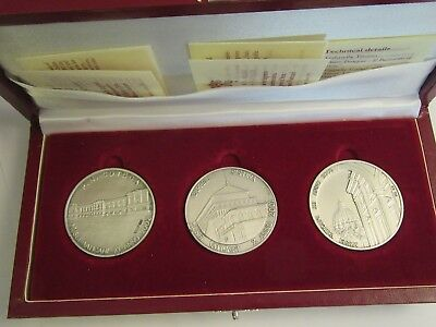 2001-2003 Vatican Sterling Silver 3 Medallion Set, each w/ COA & display box