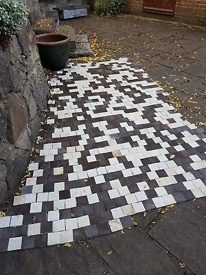 Antique Victorian floor tiles, black and white porch tiles reclaimed