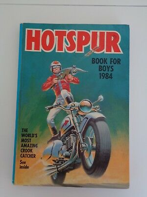 HOTSPUR Book for Boys 1984 (Annual) (Hardcover), clipped, Good Condition