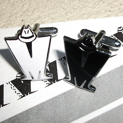Madness - Pair Of Black & White Enamel 'm' Logo Cufflinks - Suggs Ska Two 2 Tone