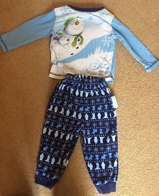 Snowman And The Snowdog & Little Elf Pj Sets 12-18 Months
