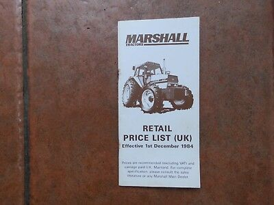 Marshall  Tractor Price List  1984