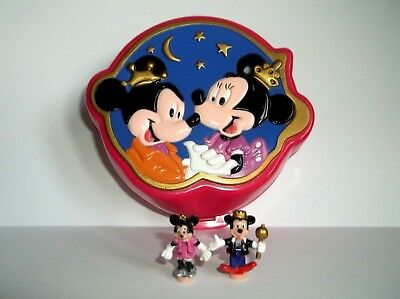 Disney Vintage-Polly-Pocket-  Minnie and Mickey Mouse 100% complete, Excellent