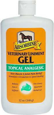 Absorbine -12 oz Veterinary Liniment Gel Muscle & Joint Relief Free Priority S/H