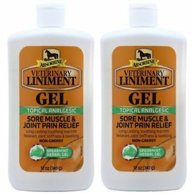 2 Pack- Absorbine -12 oz Veterinary Liniment Gel Muscle & Joint Relief Analgesic