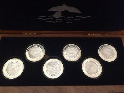 Rare Save The Whales Silver Set 999 Fine Pearl Inlay Only One On eBay