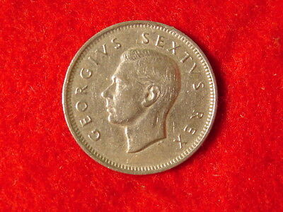 1952 South Africa 1 Shilling 50% Silver Foreign Coin George Uncirculated