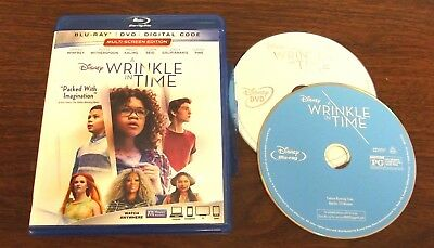 A Wrinkle In Time (Blu-Ray,2018) (Fast Free Shipping)