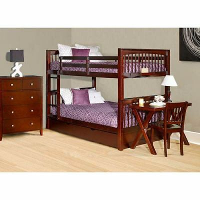 NE Kids Pulse Cherry Full Bunk Bed with Trundle - 31060NT