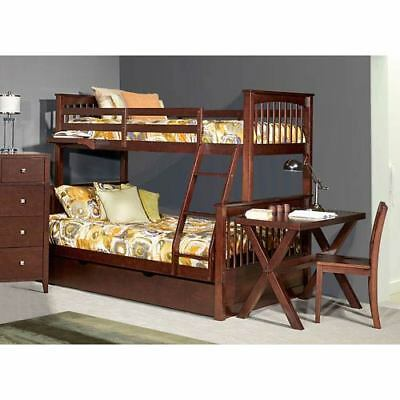 NE Kids Pulse Chocolate Twin Over Full Bunk Bed with Trundle - 32050NT