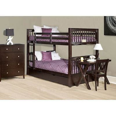 NE Kids Pulse Chocolate Full Bunk Bed with Trundle - 32060NT