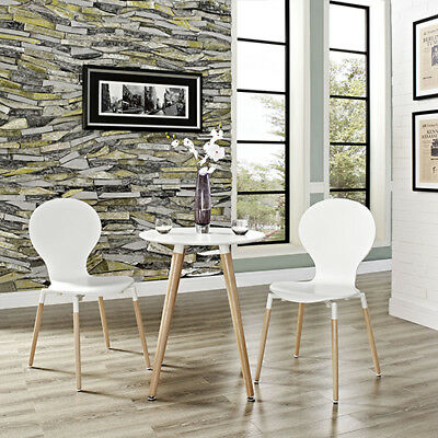 Modway Furniture Path Dining Chair Set of 2 in White - EEI-1368-WHI
