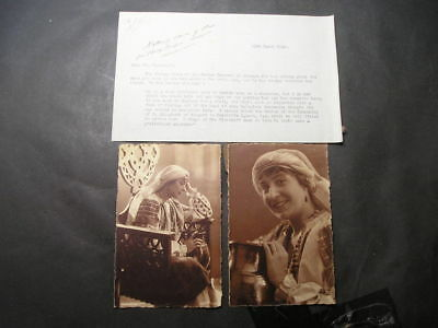 1926 Queen Marie of Romania Interest 2 Postcards  of a Lady with Bishops Letter