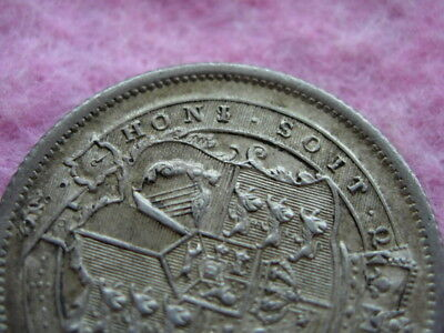 Superb And Ext. Rare Error I Over S In Honi George 111  1817 Shilling