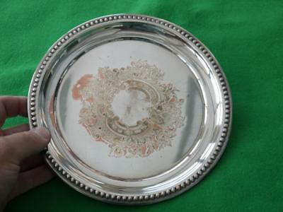 Attractive Antique/vintage Silver Plated Tray Large Dish For Serving Drinks