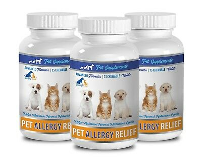 allergy pills for cats -ALLERGY RELIEF FOR DOGS AND CATS 3B- cat fur supplement