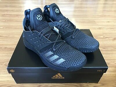 New Adidas James Harden Vol 2 Nightmare Boost Size 10 F34361 Black Shoes DS