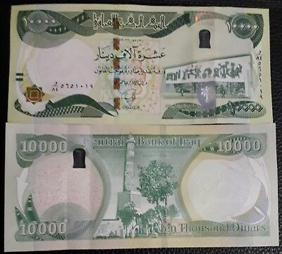 IRAQ.  30 banknotes UNC X 10000 new iraqi dinars 2013 with New Security Features