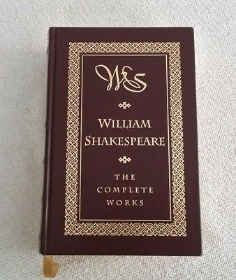 William Shakespeare The Complete Works Leather Barnes & Noble 1994 Oxford Brown
