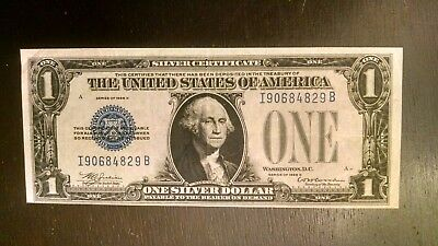 Scarce 1928 D $1 Silver Certificate,  Funny Back Ch/vf