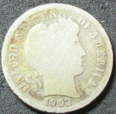 1902-S Barber Dime Coin