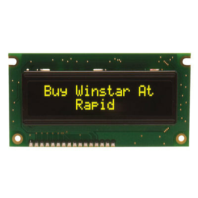 Winstar WEH001602ELPP5N 16x2 OLED Display Yellow 84x44x10mm