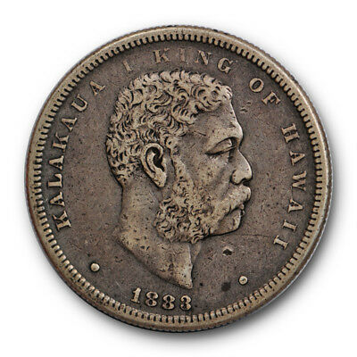 1883 50C Kingdom of Hawaii Half Dollar Extra Fine to About Uncirculated #RP14