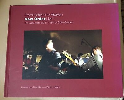 From Heaven To Heaven New Order Live Rare Hard Cover Book