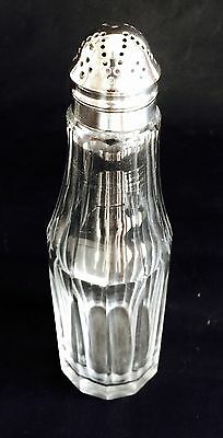 Lovely Vintage Cut-Glass & Silver Plate Sugar Sifter