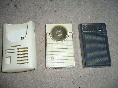 Lot of 2 Vintage Working Transistor Radios Realtone General Electric
