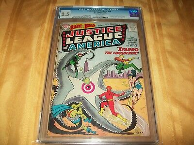 The Brave and The Bold # 28 Comic CGC 2.5 1st Justice League of America NICE