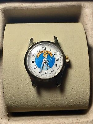 Antique Bradley BF 34 Cinderella Walt Disney Ladies Wrist Watch Swiss Made 27 PZ