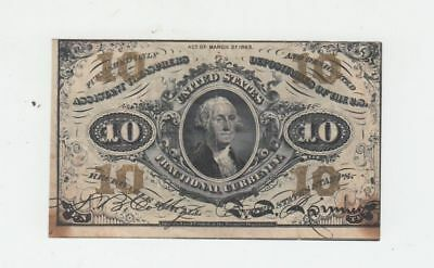 (Fr-1255)  1863 10 Cents Fractional Currency Note