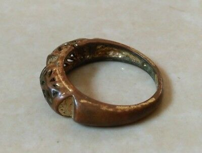 rare ancient antique roman ring bronze beautiful authentic amazing