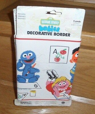 Sesame Street Babies Decorative Border Prepasted 15'  Alphabet