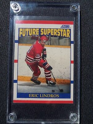 1990/91 Score Hockey Card #440 Future Superstar Eric Lindros Rookie Card