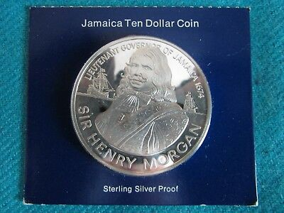 1974 Jamaica 10 Dollar Proof Coin -Sterling Silver - ASW 1.2728 troy ozs