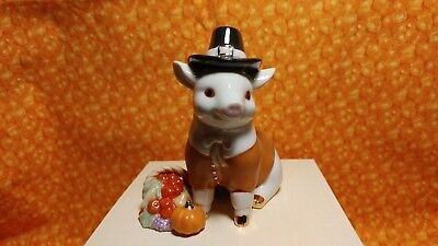 "Lenox ""thanksgiving Pig"" Figurine -- New In Box"