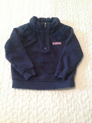 Toddler Vineyard Vines Half-Zip Pullover, Size 2T, Navy Blue