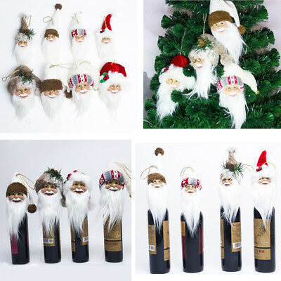 Christmas Santa Claus Wine Bottle Cap Bottle Cover Xmas Table Xmas Tree Decor