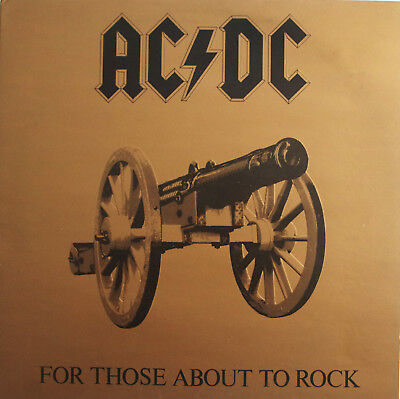 Ac/dc FOR THOSE ABOUT TO ROCK Australian ALBERT 1st Pressing RARE LP + INSERT